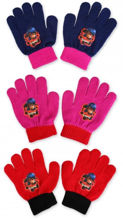 Dívčí pletené rukavice LADY BUG (Uni)