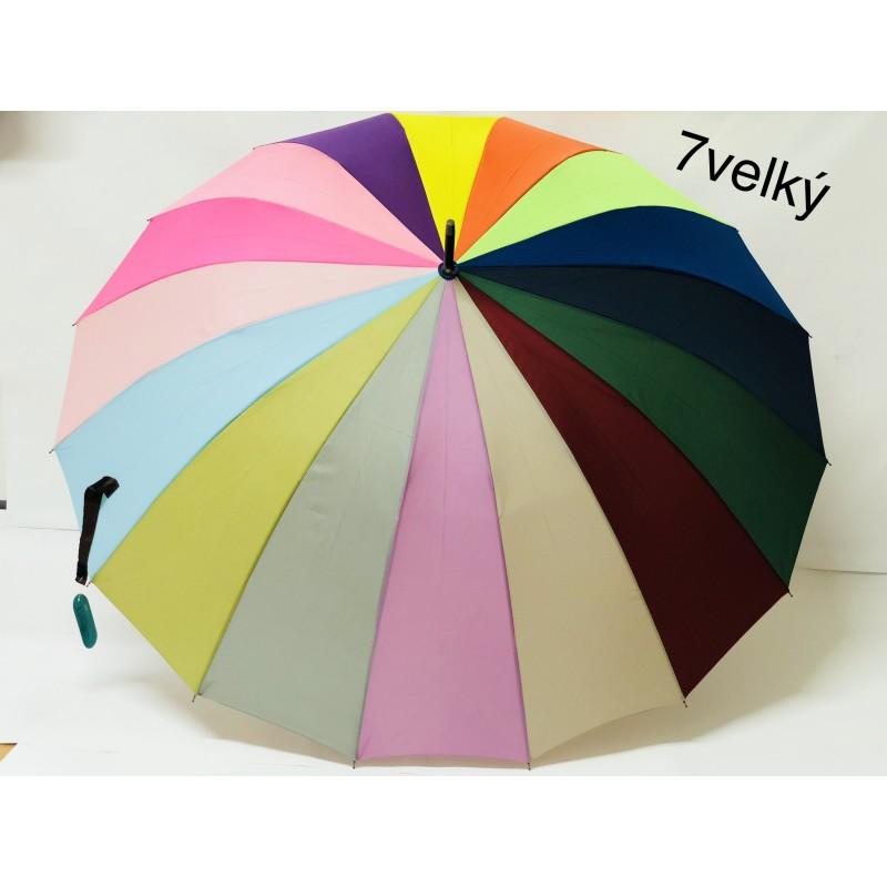 Dámský deštník velký duhový
