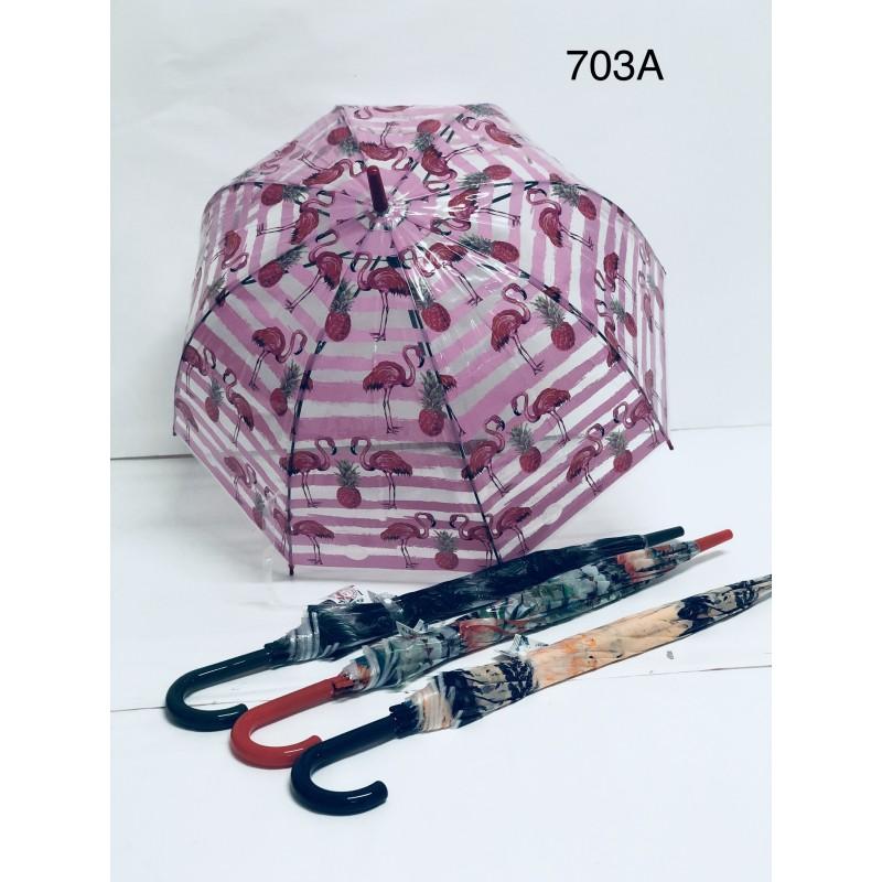 Dámský deštník plameňák