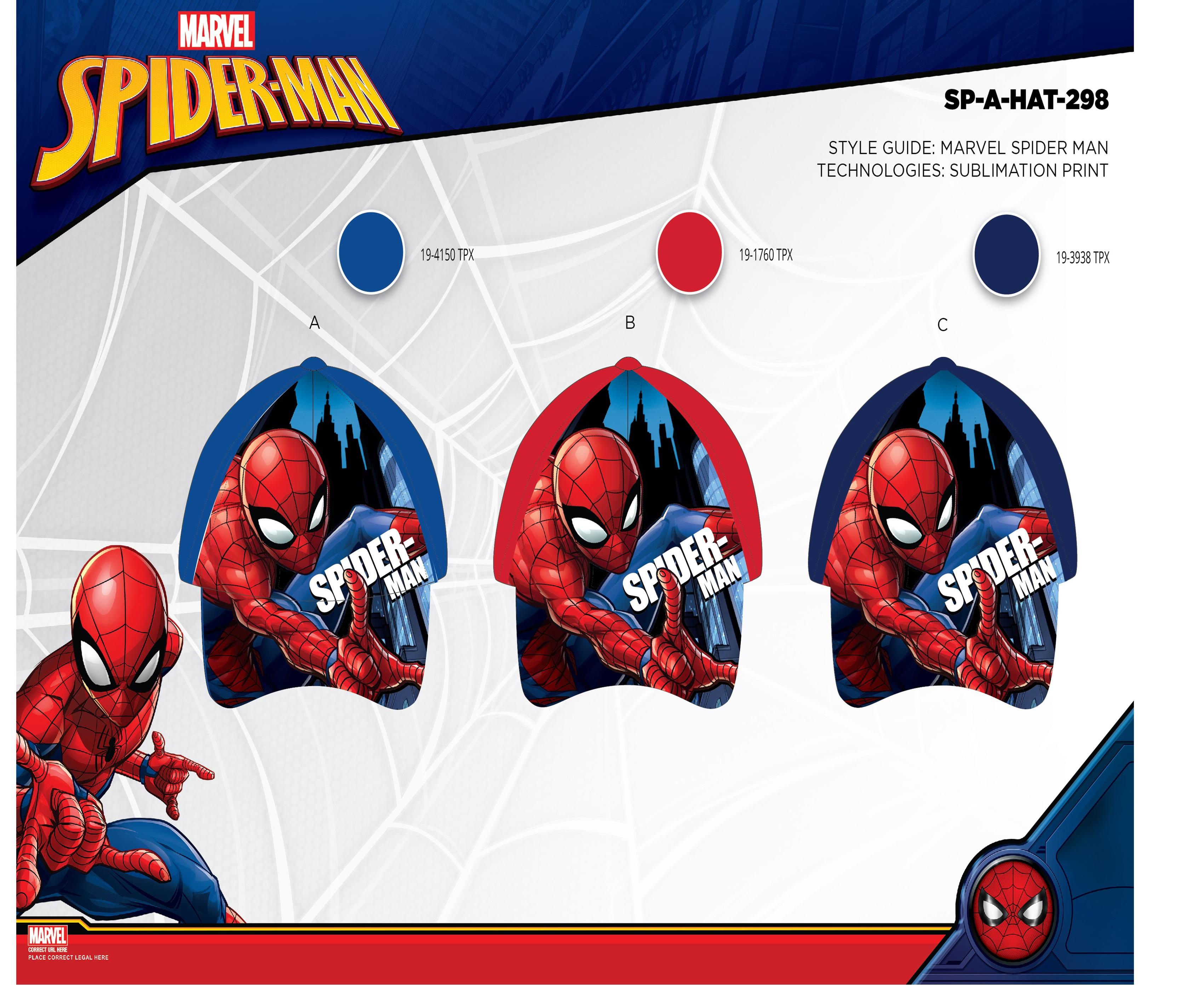 Chlapecká kšiltovka Spider man (52-54)