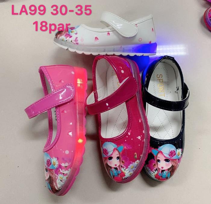 Dívčí svítící  balerínky (25-30)