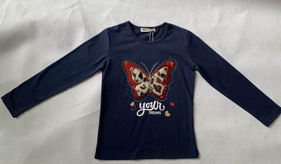 Dívčí triko s dlouhým rukávem SEZON (98-128)