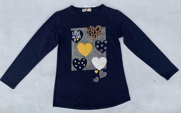 Dívčí triko s dlouhým rukávem SEZON (134-164)