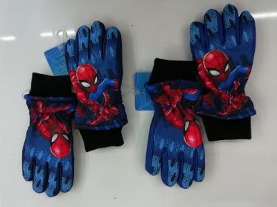 Chlapecké prstové lyžařské  rukavice  SPIDER MAN  (3/4-6/8)