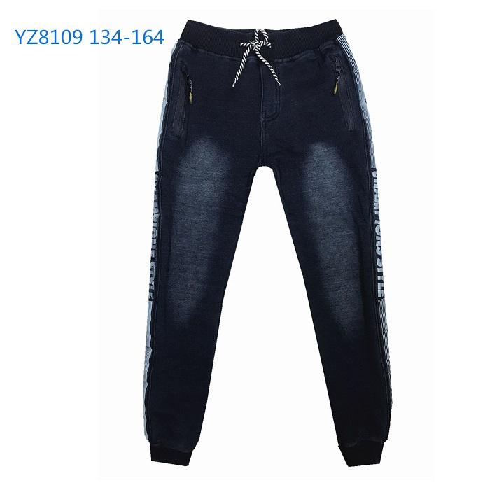 Chlapecké riflové teplé kalhoty KUGO (134-164)