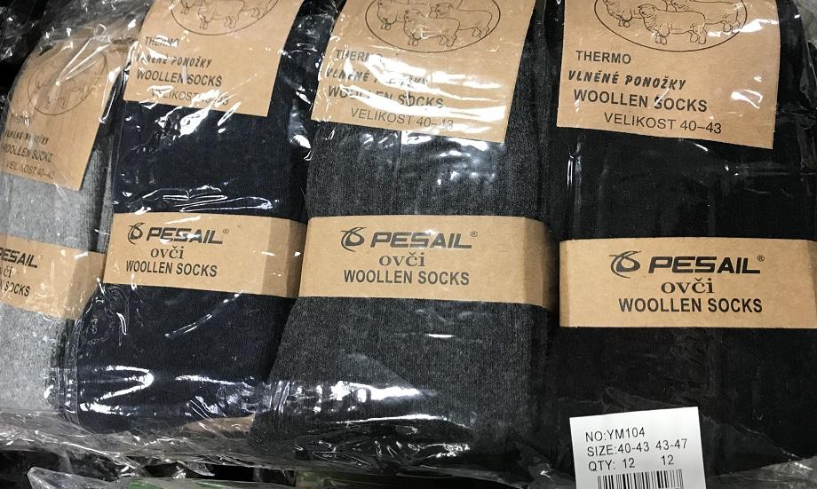 Pánské teplé ponožky z ovčí vlny PESAIL (40-47)