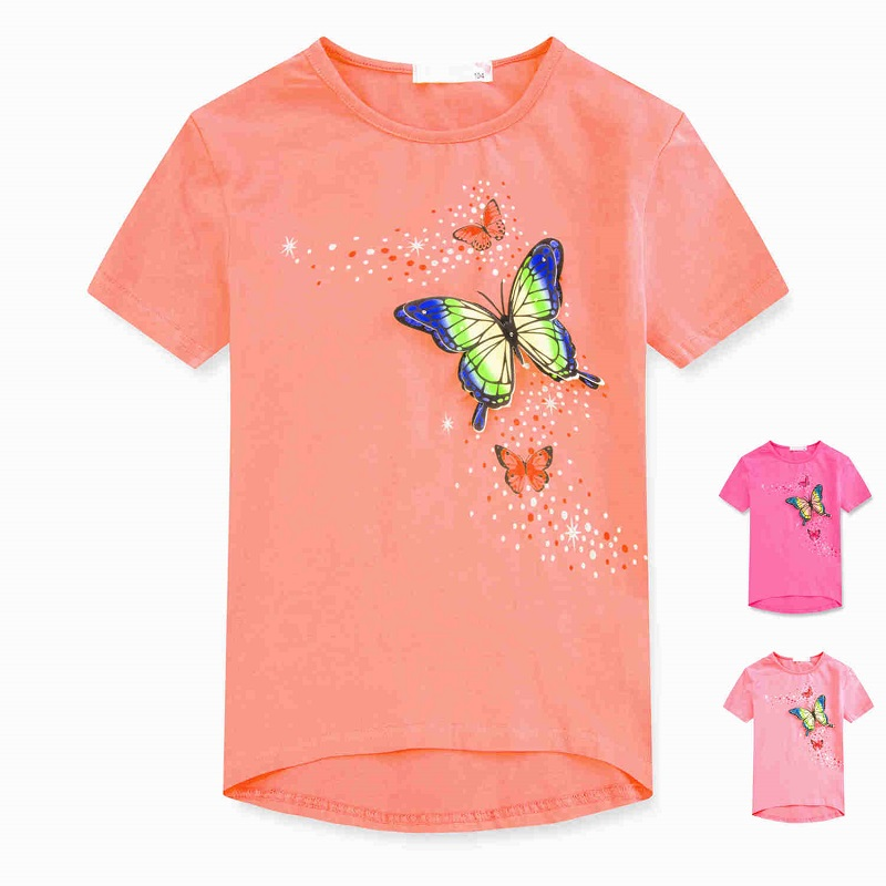 Dívčí triko s krátkým rukávem KUGO (98-128)