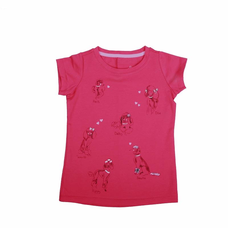 Dívčí triko s krátkým rukávem WOLF (98-128)