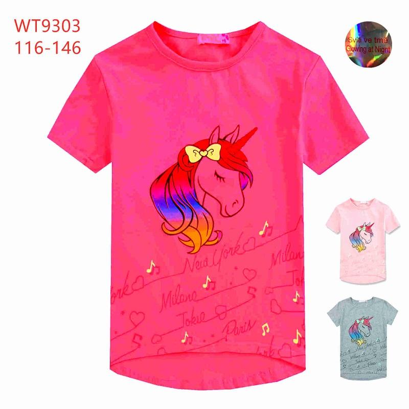 Dívčí triko s krátkým rukávem KUGO (116-146)