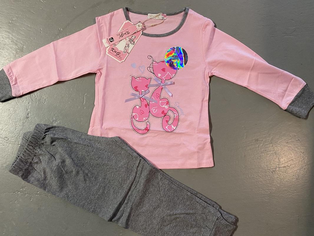 Dívčí noční pyžamo (obrázek ve tmě svítí)  KUGO (98-128)