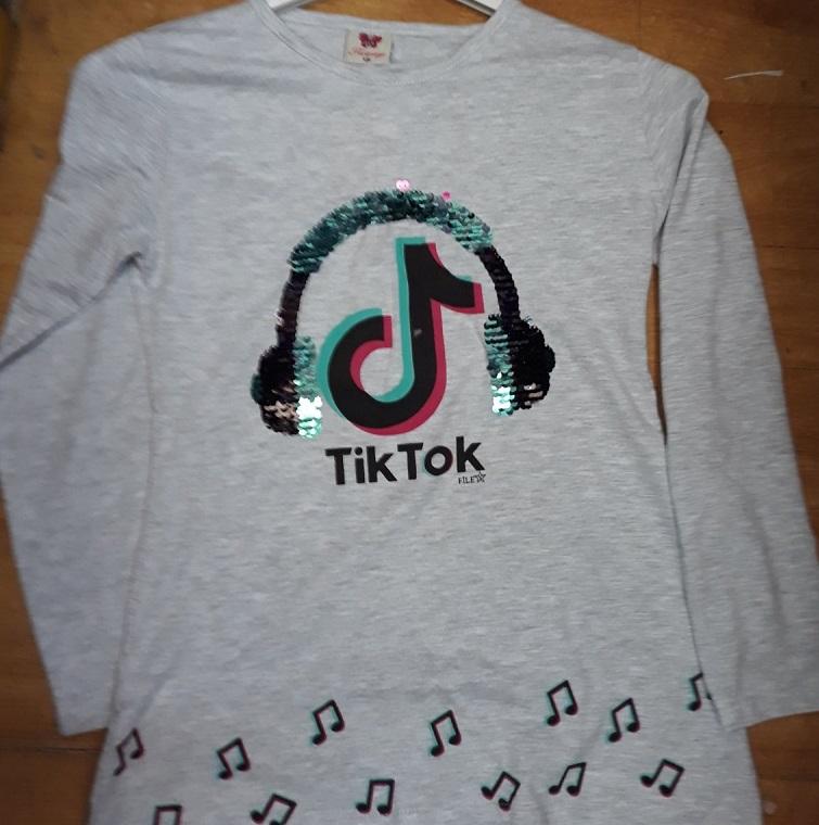 Dívčí triko s dlouhým rukávem  T.T. (134-164)