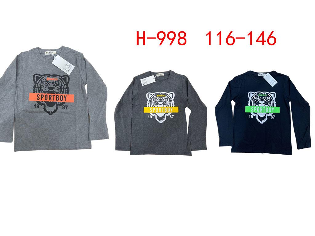 Chlapecké triko s dlouhým rukávem SEZON (116-146)