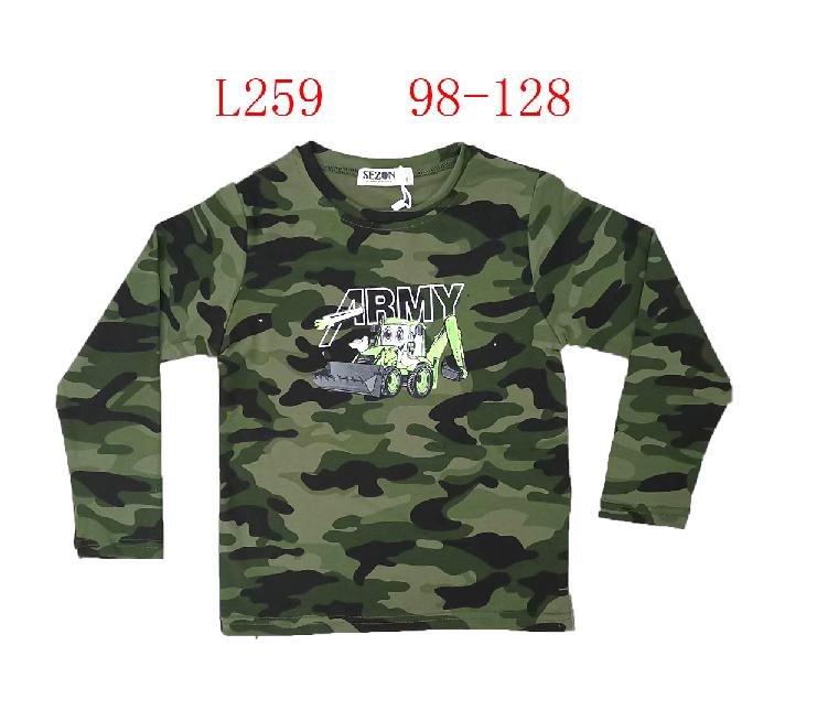 Chlapecké maskáčové  triko s dlouhým rukávem SEZON (98-128)
