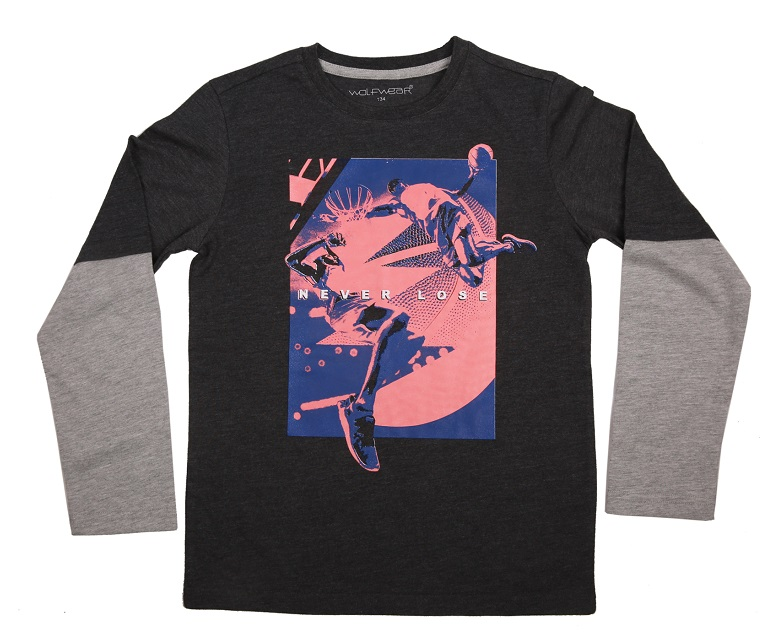 Chlapecké triko s dlouhým rukávem WOLF (134-164)