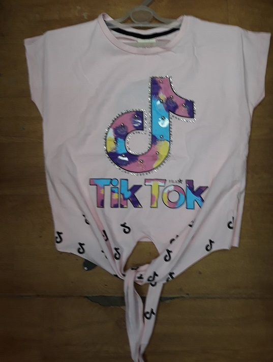 Dívčí letní triko na zavazování  T.T. (134-164)