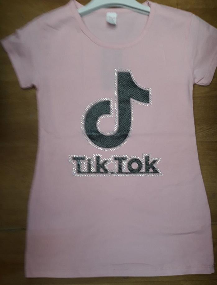 Dívčí letní triko s kamínky T.T. (134-164)