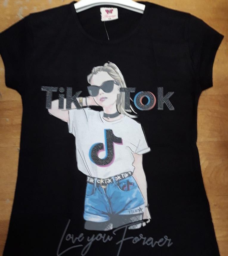 Dívčí letní triko s krátkým rukávem T.T. (134-164)