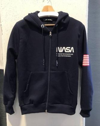Pánská mikina na zip NASA (M-2XL)