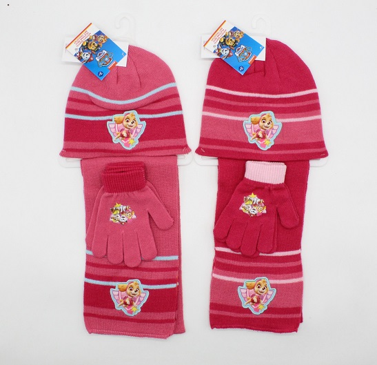 Dívčí souprava čepice, šály, rukavic PAW PATROL (vel. UNI)