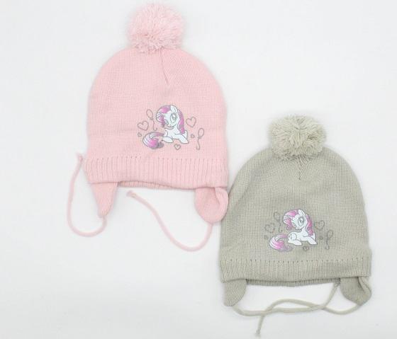 Dívčí zimní čepice POMPOM (48-50)