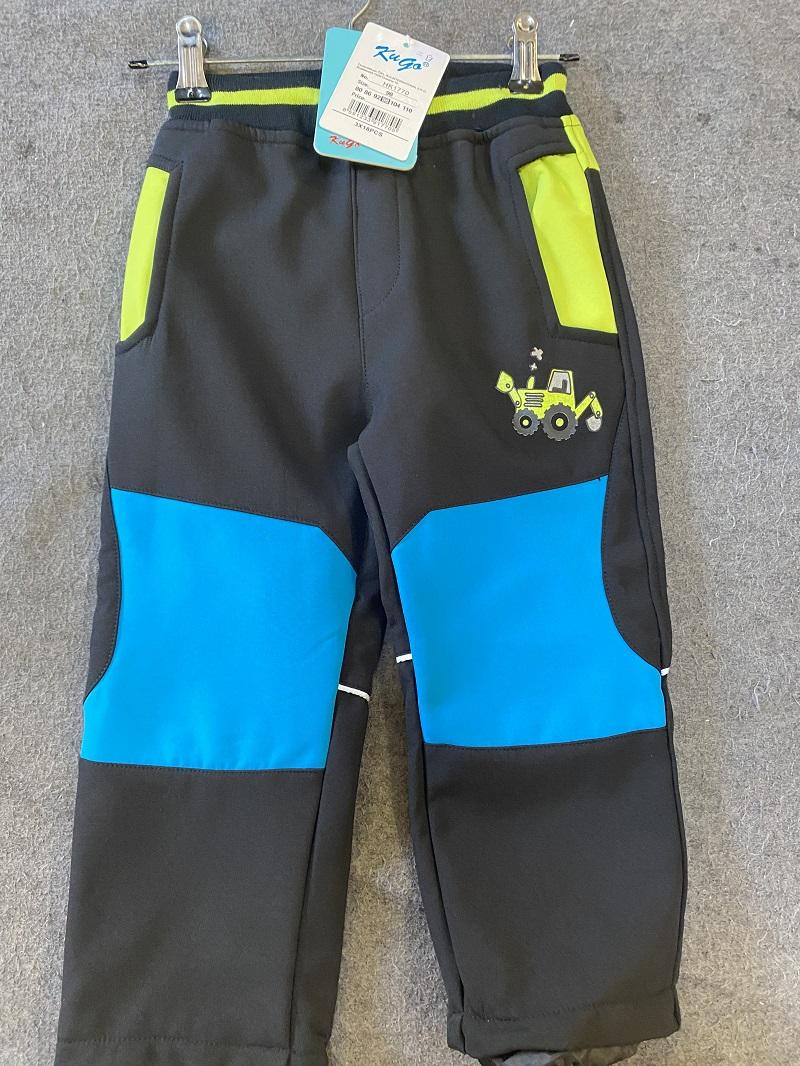 Dětské teplé softshellové kalhoty KUGO (80-110)