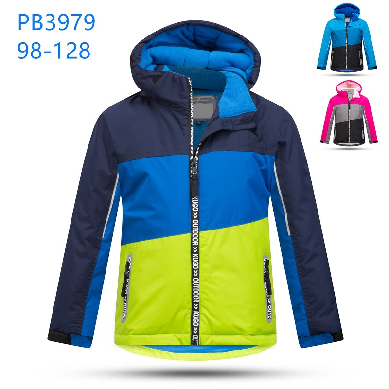 Zimní bunda podšita fleasem KUGO (98-128)