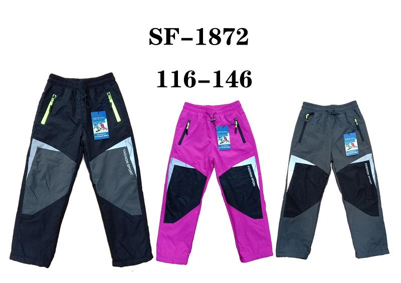 Dětské zateplené šusťákové kalhoty SEZON (116-146)