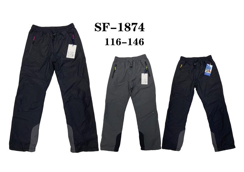 Chlapecké zateplené šusťákové kalhoty SEZON (116-146)