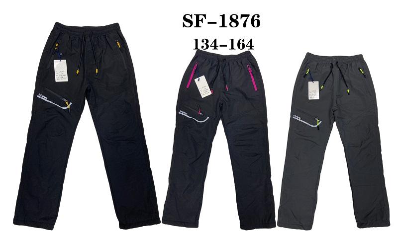 Dorostenecké zateplené šusťákové kalhoty SEZON (134-164)