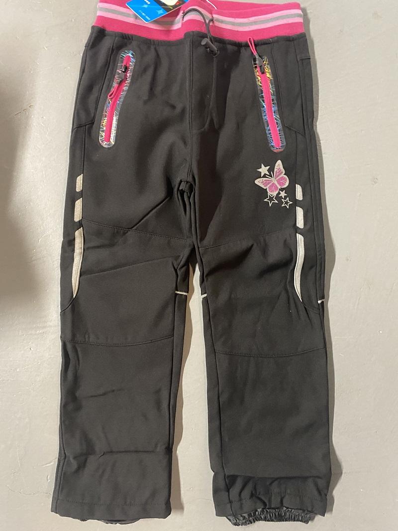 Dětské teplé softshellové kalhoty KUGO (104-134)