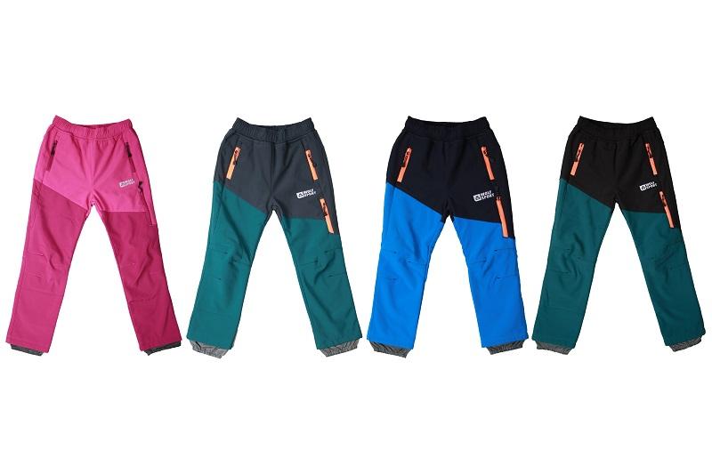 Dětské softshellové kalhoty WOLF (98-128)