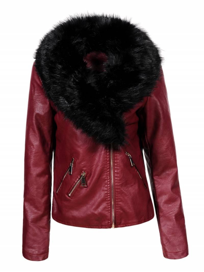 Dámská koženková bunda s límcem GLO STORY (S-XL)