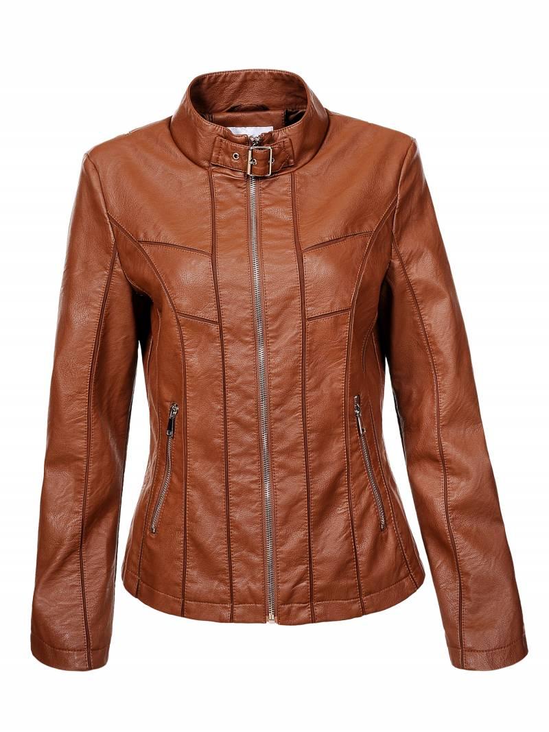 Dámská koženková bunda GLO STORY (S-XL)