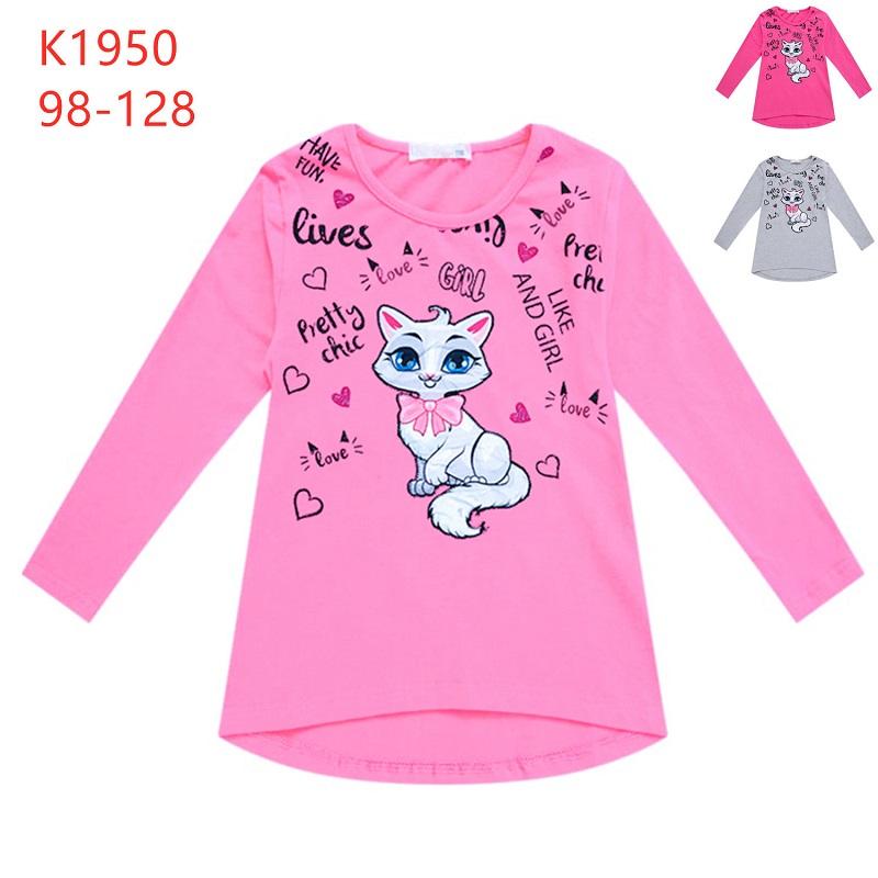 Dívčí triko s dlouhým rukávem A SVÍTÍCÍM OBRÁZKEM  KUGO (98-128)