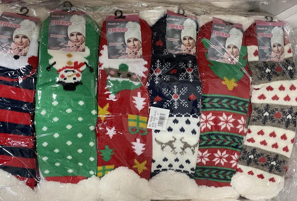 Dámské vánoční thermo  ponožky / bačkory PESAIL (vel.35-42)