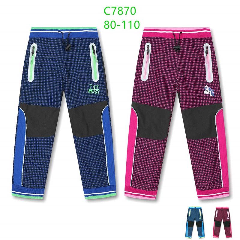 Dětské zateplené outdoorové kalhoty KUGO (80-110)