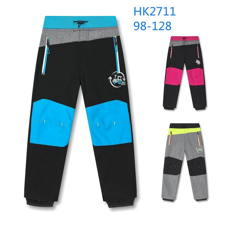 Dětské teplé softshellové kalhoty KUGO (98-128)