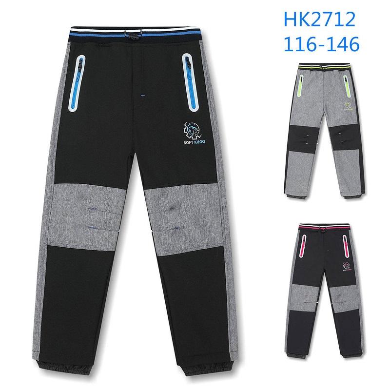 Dětské teplé softshellové kalhoty KUGO (116-146)