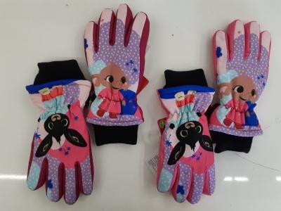 Dívčí zimní prstové rukavice BING (3-8let)