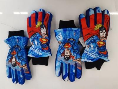 Chlapecké prstové  rukavice  SUPERMAN(vel.7/8-11/12let)