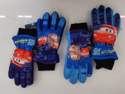 Chlapecké prstové lyžařské  rukavice CARS  (3/4-6/8)