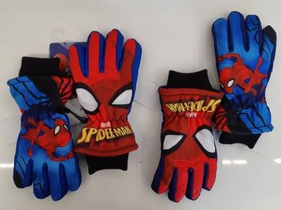 Chlapecké prstové lyžařské  rukavice SPIDER MAN(3/4-7/8)