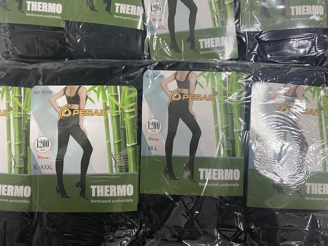 Dámské thermo bambusové  punčocháče PESAIL (M/L-3XL)