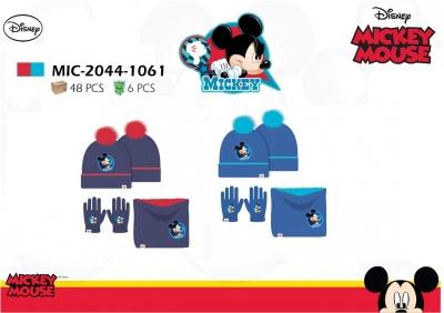 Chlapecká zimní čepice, nákrčník + rukavice MICKEY (vel. 52-54cm)