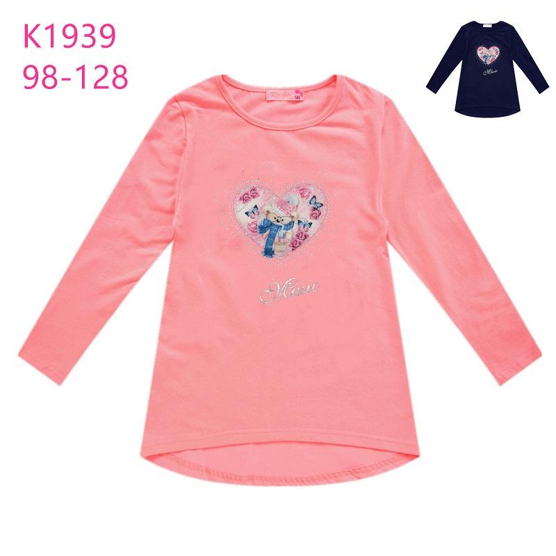 Dívčí triko s dlouhým rukávem a obrázkem KUGO (98-128)