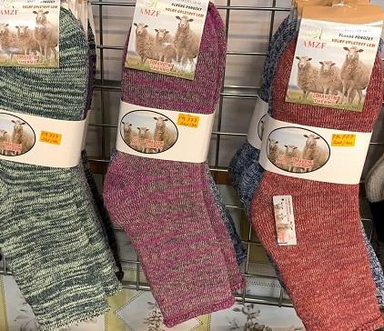Dámské thermo zdravotní vlněné ponožky z ovčí vlny AMZF (35-42)