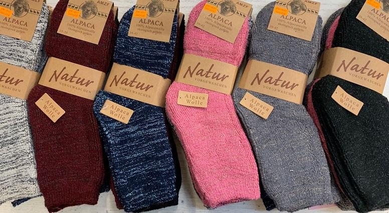Dámské thermo zdravotní vlněné ponožky z lama vlny AMZF (35-42)