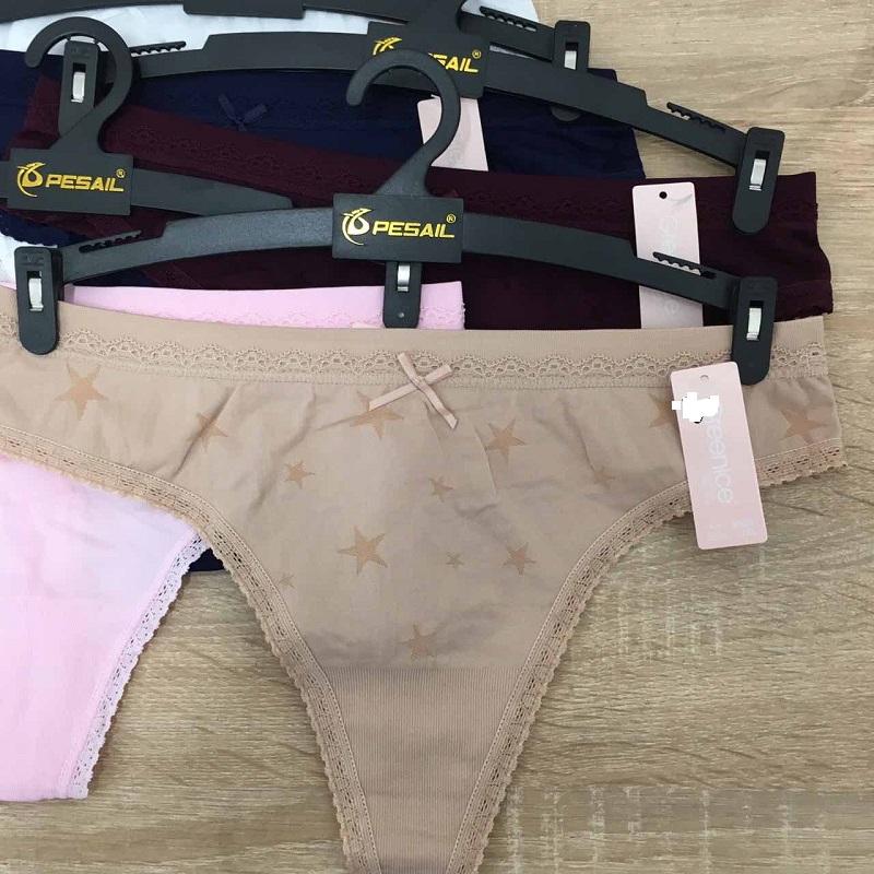 """Dámské bezešvé spodní kalhotky """"tanga"""" GREENICE (S-XL)"""