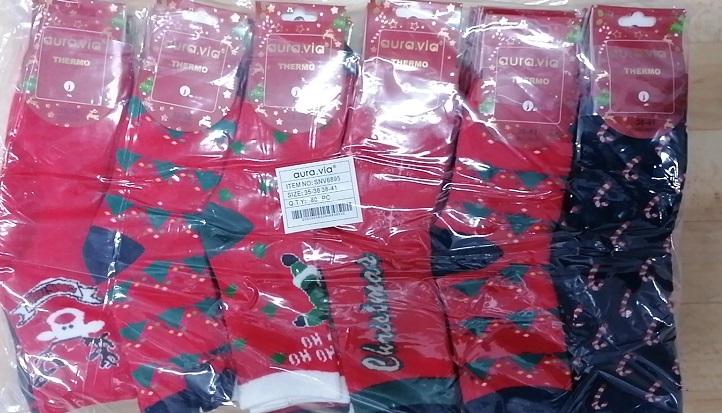 Dámské vánoční thermo ponožky AURA.VIA (35-41)