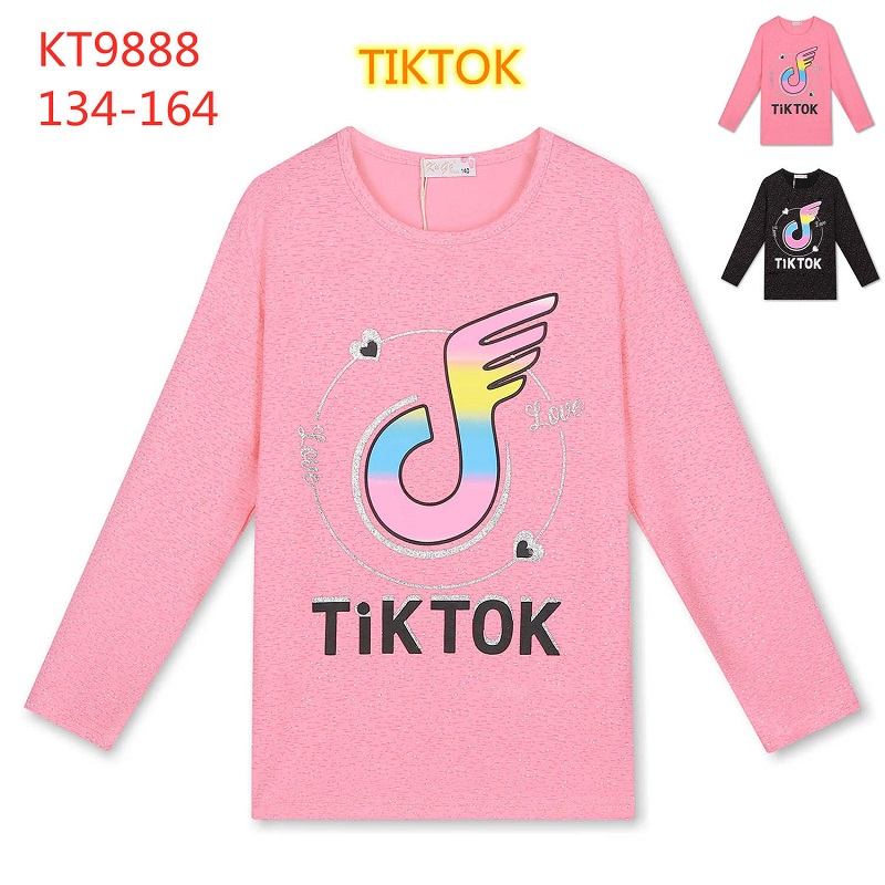 Dívčí triko  s  dlouhým rukávem TIK TOK  KUGO (134-164)